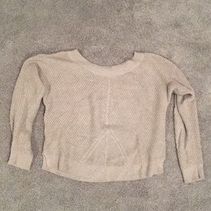 Taupe wide neck sweater from Aerie